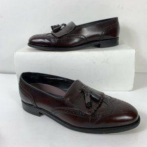Florsheim Loafers Men Sz 10 Burgundy Leather